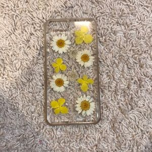 I phone 8 clear flower case